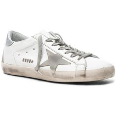 7635bfb9aab Golden Goose Leather Superstar Low Sneakers ( 480) ❤ liked on Polyvore  featuring men s fashion
