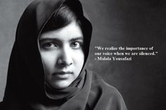 These completely inspiring quotes by Malala Yousafzai about women's rights are ones EVERY girl needs to hear. In fact, EVERYONE should really read these Malala quotes. Malala Yousafzai Quotes, Kailash Satyarthi, Woman Quotes, Life Quotes, Seneca, Importance Of Education, Nobel Peace Prize, Nobel Prize, First Girl