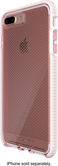 Tech21 - EVO Check Case for Apple® iPhone® 7 Plus - White/Light rose