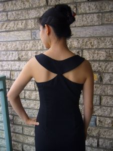 Little Black Dress (LBD) with Beautiful Back - FREE Sewing Pattern and Tutorial - This is a gorgeous dress inspired by Hubert de Givenchy's gown worn by Audrey Hepburn in the film Breakfast at Tiffany's