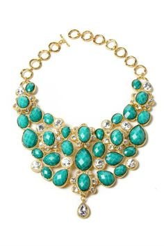Teal and gold elaborate chain