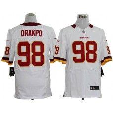 Nike Brian Orakpo Jersey Elite Team Color White Washington Redskins  98  Redskins Football 2edb50138