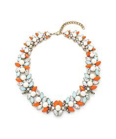 Look what I found on #zulily! Tangerine & Mint Claudette Statement Necklace #zulilyfinds