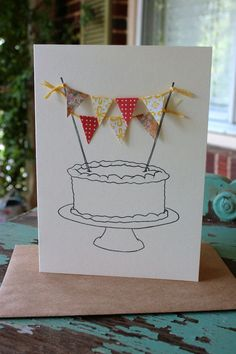 Perfect cake bunting greeting card