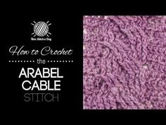 This video crochet tutorial will help you learn how to crochet the arable cable stitch. For photos and written pattern instructions for this stitch, please v...