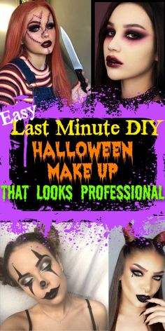 Halloween Shots, Last Minute Halloween Costumes, Halloween Make Up, Haunted Prison, Diy Beauty Treatments, Creative Makeup, Costume Makeup, Makeup Looks, Diys