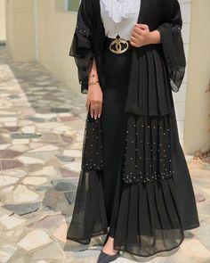 icu ~ House of sorella abaya Street Hijab Fashion, Abaya Fashion, Muslim Fashion, Fashion Dresses, Dress Outfits, Dress Shoes, Shoes Heels, Estilo Abaya, Mode Abaya