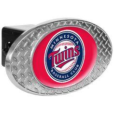 Minnesota Twins Metal Diamond Plate Trailer Hitch Cover - MLB.com Shop
