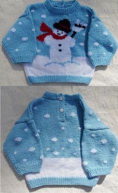 Schöner Strickpullover Infant-And-Child- - Diy Crafts Baby Boy Knitting Patterns Free, Kids Patterns, Diy Crafts Knitting, Easy Knitting, Girls Sweaters, Baby Sweaters, Knit Or Crochet, Crochet Baby, Kid Outfits