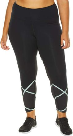 b93896831f2 SHAPE Activewear Cross Check Compression Leggings - Plus Size