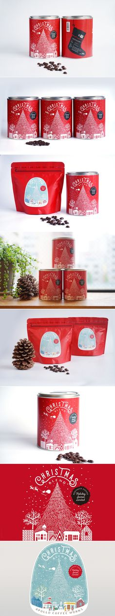 Apollo Coffee Works Limited Edition Holiday Cans — The Dieline - Branding & Packaging Design