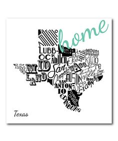 Look at this Texas 'Home' Wrapped Canvas on #zulily today!