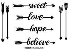 Arrows Word Graphic Vector Stencil