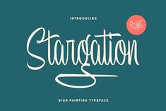 Stargation - Display Script by Letterhend Studio on @creativemarket
