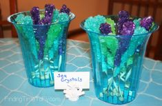 Mermaid Under the Sea birthday party.ideas, food, decor, great instructions and lots of pics. Mermaid Under The Sea, Under The Sea Party, 9th Birthday Parties, 2nd Birthday, Birthday Ideas, Cheap Party Decorations, Birthday Party Decorations, Otter Birthday, Ocean Party