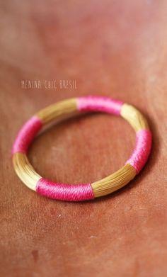 bracelet corda fushia