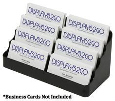 4 Tiered Business Card Holder For Desktop Use Double Wide 500 Cards Black
