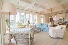 Sweet, sweet beach house living room! LOOOOVEEEEE it. Meredith McBrearty - PORTFOLIO - florida beach house