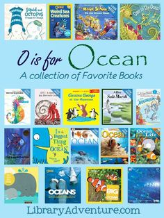 O is for Ocean Book List - a collection of favorite books from Becky at… Ocean Activities, Learning Activities, Kids Learning, Sequencing Activities, Learning Time, Preschool Books, Preschool Ideas, Preschool Spanish, Ocean Unit