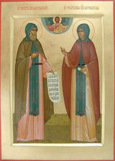 Sts Peter & Fevronia of Murom / Russian Icons, Orthodox Icons, Ikon, Old Friends, Jesus Christ, Saints, My Friend, Religion, Painting