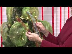 Learn how to decorate your Christmas Tree using Deco Mesh. Our family started decorating our holiday tree this way and we love it! Ribbon On Christmas Tree, Holiday Tree, Xmas Tree, All Things Christmas, Holiday Fun, Christmas Holidays, Christmas Wreaths, Christmas Bulbs, Christmas Crafts