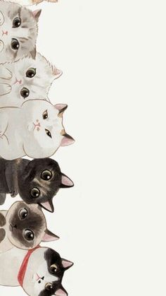 Trendy Wall Paper Cat Kawaii Phone Wallpapers Source by videos wallpaper cat cat memes cat videos cat memes cat quotes cats cats pictures cats videos Art And Illustration, Cat Illustrations, Landscape Illustration, Cat Wallpaper, Cat Pattern Wallpaper, Unique Wallpaper, Painting Wallpaper, Cartoon Wallpaper, Mobile Wallpaper