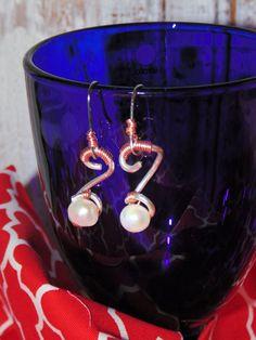 Wire Wrapped Drop Earrings Sterling Silver by STFDoorDesigns