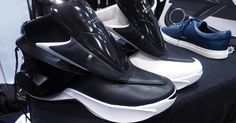 You can use your smartphone to 'lace up' this sneaker