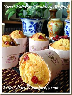 Sweet Potatoes Cranberry Muffins (蔓梅地瓜小松饼)#guaishushu