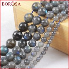 BOROSA 4mm 6mm 8mm 10mm 12mm Natural Stone Beads Labradorite Round Loose Beads Drusy Stone Loose Bead Jewelry Making LS003 #Affiliate