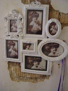 Bilderrahmen antik weiß Barock im Elbmöbel Online Shop