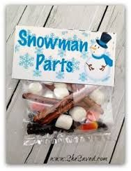 Snowman parts label....Done Xmas 2014