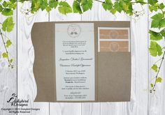 Rustic Wedding Invitation Rustic Invitations, Wedding Invitations, Rustic Wedding, Wedding Invitation Cards, Wedding Invitation, Wedding Announcements, Wedding Invitation Design