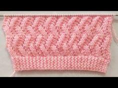 Zigzag Knitting Stitch Pattern For Cardigan/Sweater Sweater Knitting Patterns, Knitting Stitches, Knitting Designs, Free Knitting, Cable Knitting, Knitting Videos, Knitting For Beginners, Octopus Crochet Pattern, Crochet Patterns