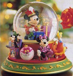 Bandleader Mickey with Disney Toys Snowglobe