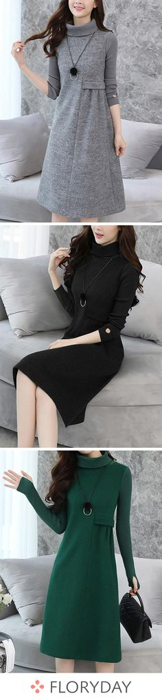 Shop Floryday for affordable Dresses. Floryday offers latest ladies' Dresses collections to fit every occasion. Modest Dresses, Trendy Dresses, Nice Dresses, Casual Dresses, Shift Dresses, Modest Fashion, Fashion Dresses, Fashion Clothes, Winter Dresses