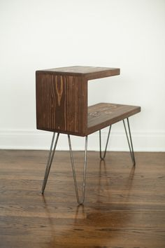 Reclaimed Wood Side Table by CraftGather on Etsy
