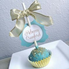 Cake pops work great as place cards and wedding favors