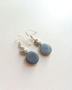 Celestite earrings Natural Celestite stones and by SPIRALICA