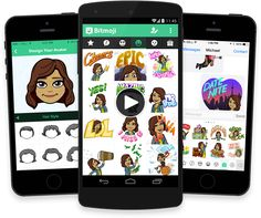 Bitstrips mobile phone App to create comics! Create your Own Personal Emoji (avatar) and characters and start starring new scenes.