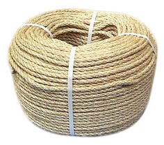 Random Lengths Strong Natural Sisal Rope 6mm 8mm 10mm 12mm 14mm Cheap Sale 10 Pack Ropes, Cords & Slings
