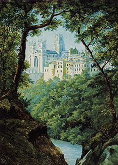 Durham Cathedral watercolour by Felix Mendelssohn after a pencil drawing made by him at Durham in 1829.