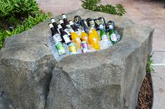 Keep your cold ones ice cold with this awesome beer rock! Created using concrete and Walttools products
