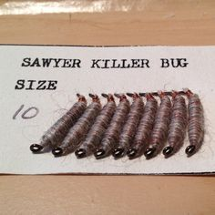 Frank Sawyer - Killer Bug - Original Killer Bug's tied by his wife Margaret