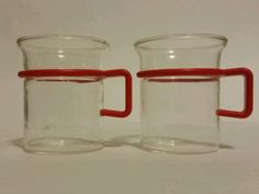 lot of 2 star trek captain picard style tea coffee espresso cup glass