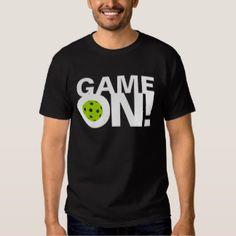 """Men's Pickleball T-shirt: """"GAME ON!"""" (Take 15% OFF)"""
