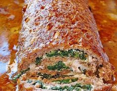 The meatloaf with spinach is a great German meatloaf recipe. Ground meat has many ways to cook it, and one is you make meat loafs out of it.