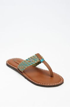 Love the braided leather straps on the Roxy 'Pisco' Flip Flop in BP Shoes.