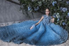 Incredible princess style ballgown by Mishka Aoki for fall/winter 2016 luxury kidswear