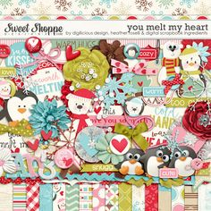 You Melt My Heart by Digilicious Design, Heather Roselli & Digital Scrapbook Ingredients. I just love those polar bears & penguins!